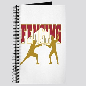 Fencing Logo (Red & Gold) Journal