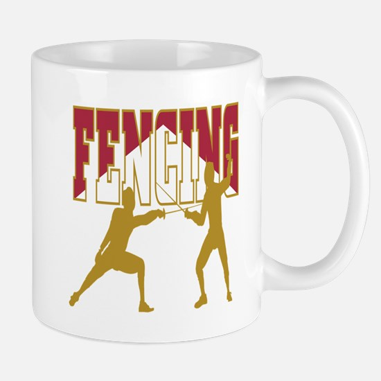 Fencing Logo (Red & Gold) Mug