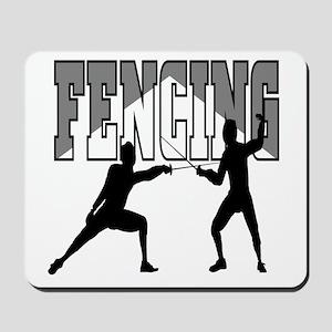 Fencing Logo (Black & Grey) Mousepad