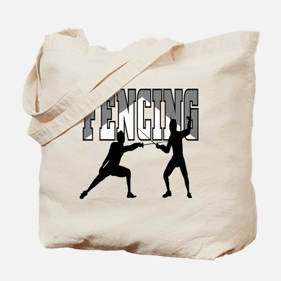 Fencing Logo (Black & Grey) Tote Bag