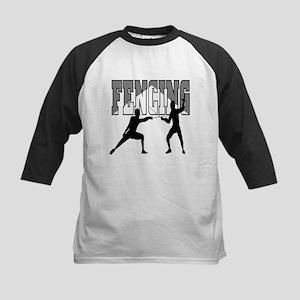 Fencing Logo (Black & Grey) Kids Baseball Jersey