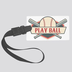 Play Ball Baseball Large Luggage Tag