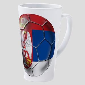Serbian Football 17 Oz Latte Mug