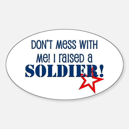 Raised a Soldier Oval Decal