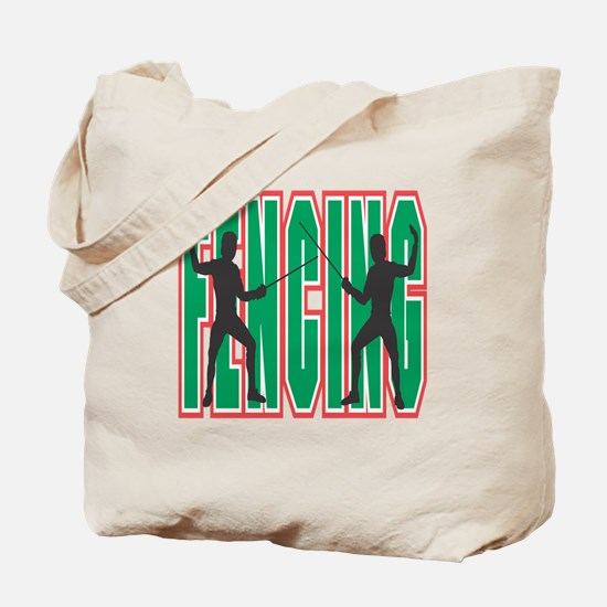 Fencing Logo (Green) Tote Bag