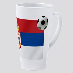 Serbia Football Flag 17 Oz Latte Mug