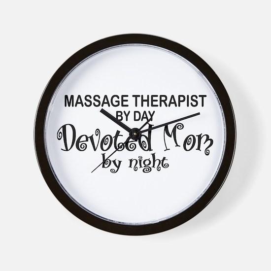 Massage Therapist Devoted Mom Wall Clock