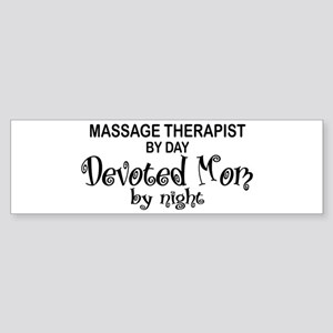Massage Therapist Devoted Mom Bumper Sticker