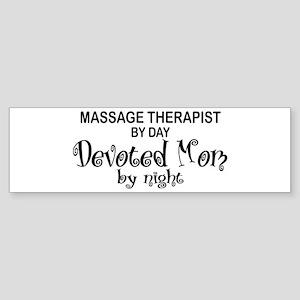 Massage Therapist Devoted Mom Bumper Sticker