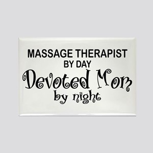 Massage Therapist Devoted Mom Rectangle Magnet