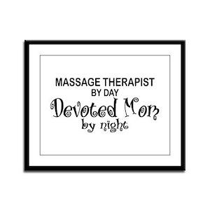 Massage Therapist Devoted Mom Framed Panel Print