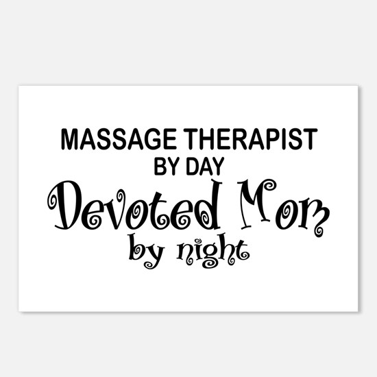 Massage Therapist Devoted Mom Postcards (Package o