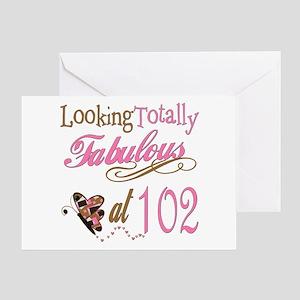 Fabulous 102nd Greeting Card