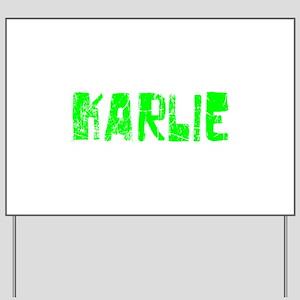 Karlie Faded (Green) Yard Sign