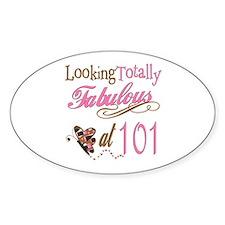 Fabulous 101st Oval Sticker