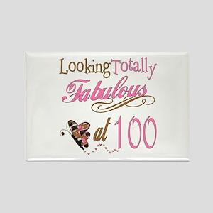 Fabulous 100th Rectangle Magnet