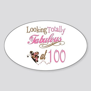 Fabulous 100th Oval Sticker