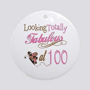 Fabulous 100th Ornament (Round)