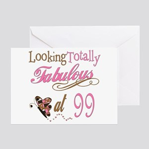 Fabulous 99th Greeting Card