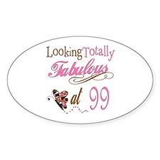 Fabulous 99th Oval Sticker