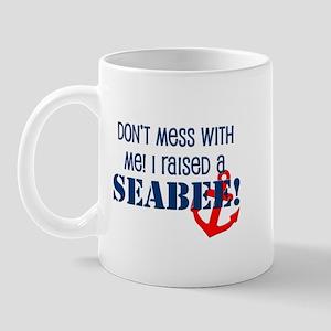 Raised a Seabee Mug