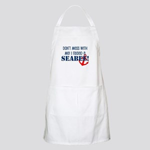 Raised a Seabee BBQ Apron