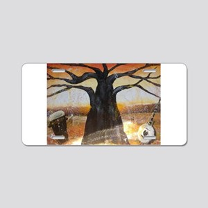 A Baobab Afternoon Aluminum License Plate