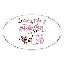 Fabulous 95th Oval Sticker