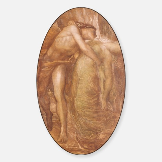 Orpheus & Eurydice Oval Decal