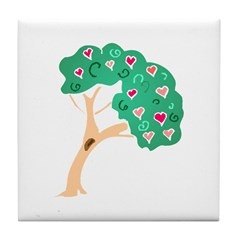 Tree of Love Tile Coaster