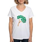 Tree of Love Women's V-Neck T-Shirt
