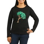 Tree of Love Women's Long Sleeve Dark T-Shirt