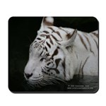 White tiger 3 mousepad