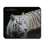 White tiger 2 mousepad