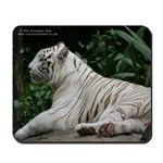 White tiger 1 mousepad