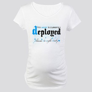 My Heart is Currently Deployed Maternity T-Shirt