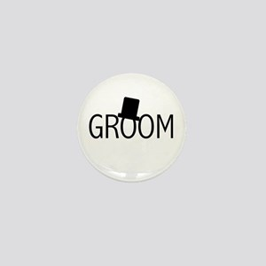 Top Hat Groom Mini Button