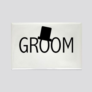 Top Hat Groom Rectangle Magnet