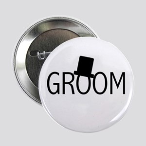 "Top Hat Groom 2.25"" Button"