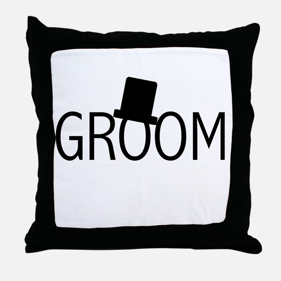 Top Hat Groom Throw Pillow