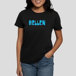 Kellen Faded (Blue) Women's Dark T-Shirt