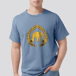 Thai-elephant-gold-black T-Shirt