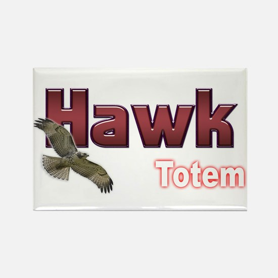 Hawk Rectangle Magnet