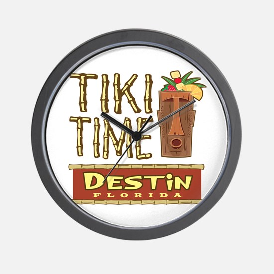 Destin Tiki Time - Wall Clock