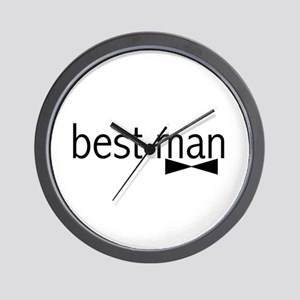 Bow Tie Best Man Wall Clock