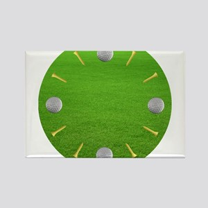 CLOCK - GOLF BALLS TEES s Magnets