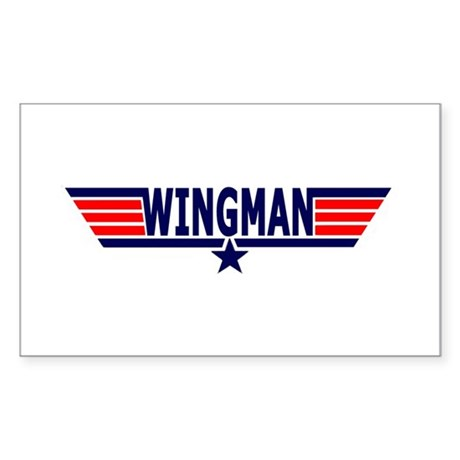 Wingman T-Shirt Collection Rectangle Sticker