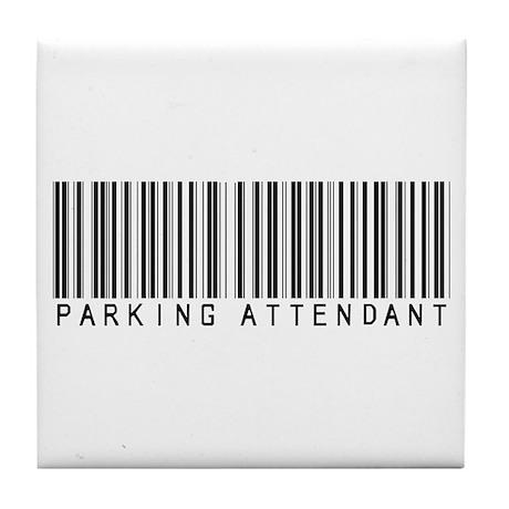 Parking Attendant Barcode Tile Coaster