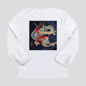 vintage japanese tattoo dragon Long Sleeve T-Shirt