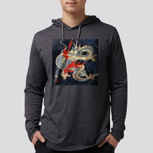 vintage japanese tattoo dragon Long Sleeve T-Shirt